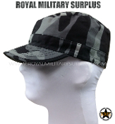 City Tactical Military Field Cap - Dark Urban Camouflage Tactical Pattern