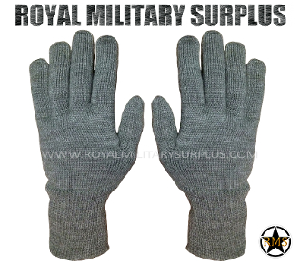 Wool Gloves - Germany Army Issue - GREY (Charcoal)
