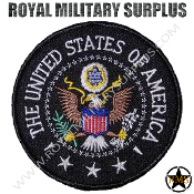 Patch - Round Emblema - US Federal Emblema (Black)