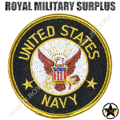Patch - Round Emblema - US Navy (Black/White/Gold)