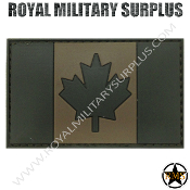 Patch - Flag (Rubber) - Canada Tactical (Subdued Green)