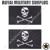 Patch - Flag Set/Military Emblema - Pirate Skull (Black/White)