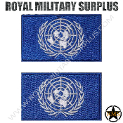 Patch - Flag Set/Military Emblema - United Nation (Blue/White)