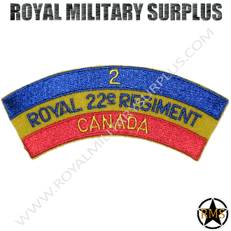 Patch - Military Emblema - Canada 22e Regiment (Blue/Yellow/Red)