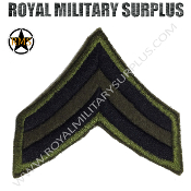 Patch - Military Rank - US Corporal (OD Green/Black)