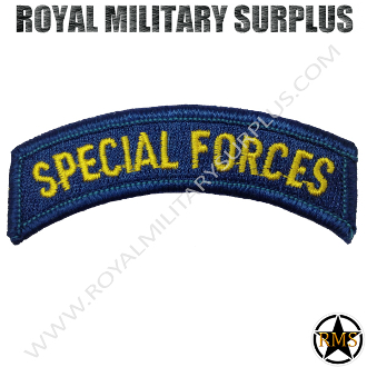 Patch - Military Insignia - Special Forces (Blue/Gold)