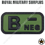 Patch - Blood Type (Rubber) - B- NEGATIVE (Green/Black)