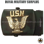 Belt Buckle US Navy Emblema Woodland Gold