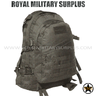 Backpack - MOLLE Tactical Pack - BLACK (Black Tactical)