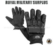 Tactical Gloves - Valken Full Fingers (Plastic) - BLACK