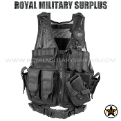 Tactical Vest - Valken - Crossdraw Vest - BLACK