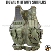 Tactical Vest - Valken - Crossdraw Vest - OD GREEN