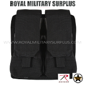 Pouch - Rifle Magazine/Dual MOLLE (Rothco) - BLACK