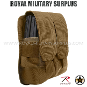 Pouch - Rifle Magazine/Dual MOLLE (Rothco) - COYOTE