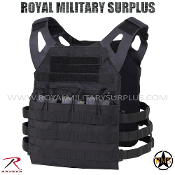 Tactical Vest - Plate-Carrier Skeleton (Lightweight) - BLACK